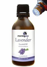 LAVENDER OIL 2 OZ by Morning Pep 100 % Pure And Natural Therapeutic Grade , U...