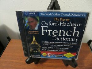 The Pop-up Oxford-Hachette French-English/English-French Dictionary CD-ROM NEW