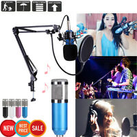 BM800 Dynamic Condenser Microphone Sound Studio KTV Singing Recording+Stand Set