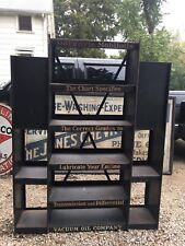 Rare Gargoyle Mobiloils Large Metal Display Rack Sign for Garage Shop