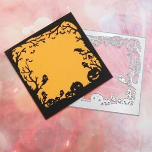 Halloween Crow Pumpkin Metal Cutting Dies Stencil Scrapbooking DIY Album Stamp