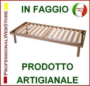 LETTO in LEGNO di FAGGIO 80 X 190 195 200 una piazza singolo RETI RETE A DOGHE