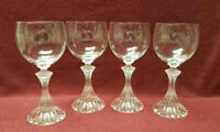 """Set of Four (4) MIKASA Crystal - The RITZ pattern - 6.5"""" WINE GOBLETS"""