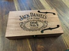 Jack Daniels Cigar Box for DIY Project guitar with F hole Teak Stain