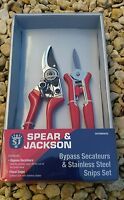 Spear & Jackson Secateurs and Stainless steel snip Gardeners Gift Set