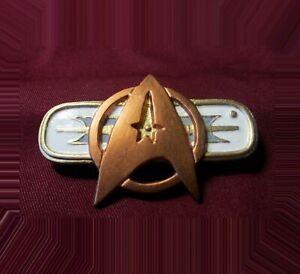 Star Trek Chest Badge Communicator Pin Combadge - Monster Maroon