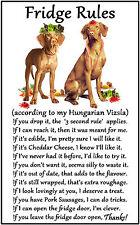 "Hungarian Vizsla Dog Gift - Large Fridge Rules flexible Magnet 6"" x 4"""