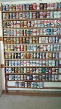 180 bottom opened beer cans display mustang american breweries Iron City display