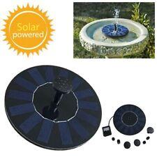 1.2w Outdoor Solar Powered Floating Water Fountain Pump Bird Bath Garden Pond Us