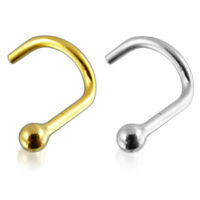 18G 14K Solid Gold Top Ball Nose Screw Stud Piercing Jewelry