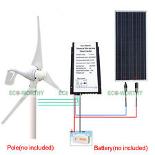 400W 12V DC Wind Hybrid Turbine Generator with  100W Watt PV Solar Panel