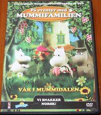 Norwegian Swedish DVD childrens toddlers Norsk Svenska Finnish MUMMIFAMILIEN