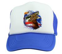 Trucker Hat Cap Foam Mesh  Patriotic USA Proud To Be American Eagle