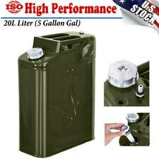 Jerry Can 5 Gallon Gas Gal Fuel NATO Military Metal Steel Tank Prepper 20L