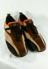 Paul & Shark Yachting Suede Brown/Tan/Orange Boat Shoes Size 8