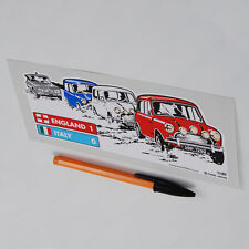 Mini Cooper S Mk1 Italian Job Alfa Super Giulia Sticker Decal  Austin Morris