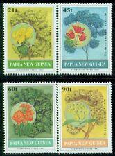 PAPUA NEW GUINEA 794-97 SG675-78 MNH 1992 Flowering Trees set of 4 Cat$11