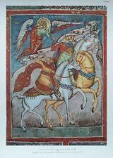 Acathistis les mages -34 x47cm vintage rare religieux imprimer