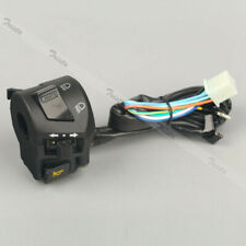 "Motorcycle 7/8"" Handlebar Horn Turn Signal Light Hi/Lo Beam PASS Left Switch 12V"