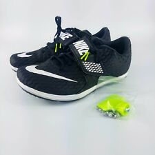 Nike Zoom High Jump Elite Track Spikes - Black/White/Volt - 806561-017 - Sz 7-14