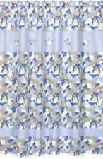 CAMO BLUE ARMY MILITARY BOYS KID BATH FABRIC SHOWER CURTAIN SWEET JOJO DESIGNS