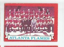 1973-74 OPC #92 ATLANTA FLAMES TEAM RECORDS O-PEE-CHEE