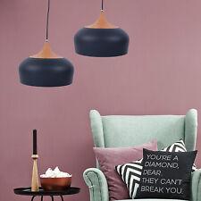 Pendant Light Modern Lighting w/ LED Bulb&Cable Wood Pattern Ceiling Decor Light