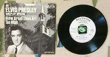 Elvis Presley 45 w PS How Great Thou Art 1967 Air Play Special WL Promo VG+/M-