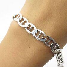 925 Sterling Silver Mariner Link Men`s Bracelet Size 7