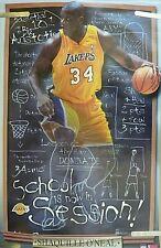 RARE SHAQ SHAQUILLE O'NEAL LAKERS 2001 VINTAGE ORIGINAL STARLINE NBA POSTER