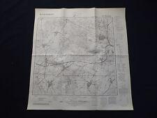 CARTINA meßtischblatt 3652 Booßen, Treplin, Jakob villaggio, piegatura, 1942
