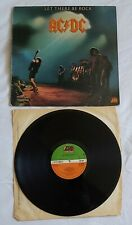 AC/DC - LET THERE BE ROCK - UK ISSUE LP ON ATLANTIC RECORDS - 1977 - VGC