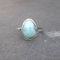 Larimar Solid 925 Sterling Silver Anxiety Ring Meditation Ring SR021