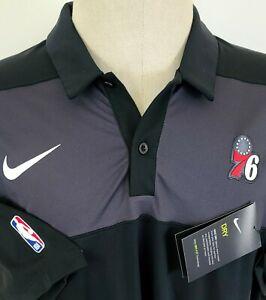 Nike Dri-Fit SS Performance Stretch Polo Shirt Philadelphia 76ers NBA XL NEW NWT