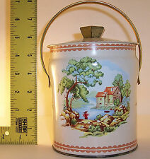 vintage ~ Murray Allen Made in England ~ Pastoral Pale / Container w/ Lid
