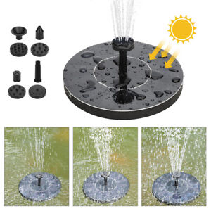 Watering Solar Power Fountain Pool Floating Water Pump Solar Panel Garden Q2A9
