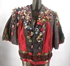 Amazing Vintage Wearable Art Jacket From France Buttons Baubles & Beads OOAK