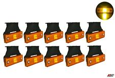 10 Pcs Led Side Marker Lights Indicator Lamps Amber Truck Lorry Lgv Hgv Bus 24v