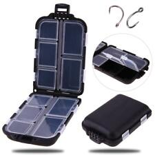 10 Compartments Fly Fishing Lure Storage Case Spoon Hook Crank Bait Tackle Box