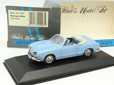 Minichamps 1/43 - VW Karmann Ghia Cabrio Blu Cielo