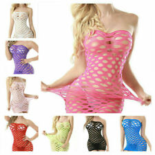 Sexy Mesh Big Fishnet Dress Body Stocking Nightwear Lingerie Sleepwear Bodysuit