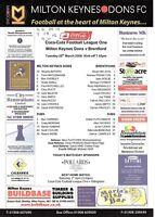 Teamsheet - Milton Keynes Dons v Brentford 2005/6