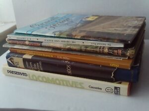 Job Lot 7 x Vintage Steam Train/Railway Books Wye Valley/Cheshire/Cornwall etc.