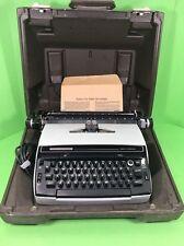 Vintage Light Blue Smith Corona Super Correct 6E Typewriter In Case Works