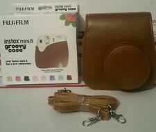 FUJiFILM Instax Mini 8 Groovy Case with Strap (Brown) *NEW IN BOX*