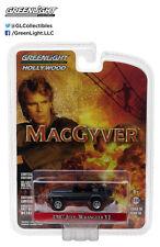 Greenlight 1987 Jeep Wrangler YJ Macgyver Matte 1:64 Black 44760-C