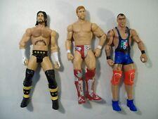 LOT OF 3 WWE ACTION FIGURES CM PUNK SANTINO MARELLA DANIEL BRYAN 2010