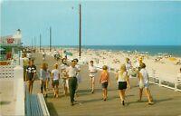 Boardwalk Beach Rehoboth Delaware DE summer scene and surf Postcard