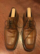 Men's Magnanni Brown Leather Oxford Shoes Size 43.5 10 Lace Up with Shoe Horns