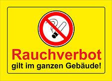 Rauchverbot im ganzen Gebäude, Bitte nicht rauchen - ALU- oder PVC-Schilder